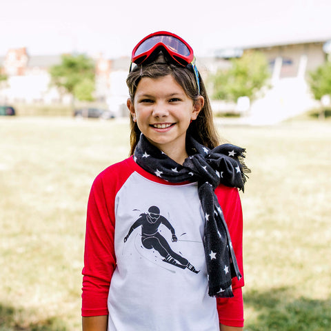 Image of Shred! Skiing Raglan 3/4 Sleeve T-Shirt