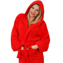 Load image into Gallery viewer, Unisex Red Bathrobe