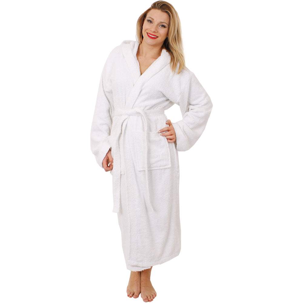 Unisex White Bathrobe