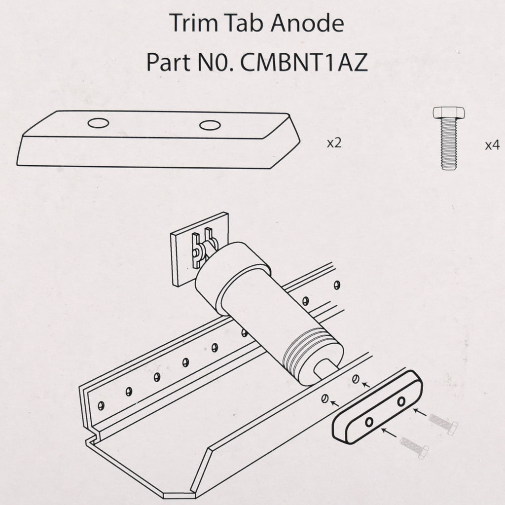 Bennett Trim Tab Kit - Zinc -