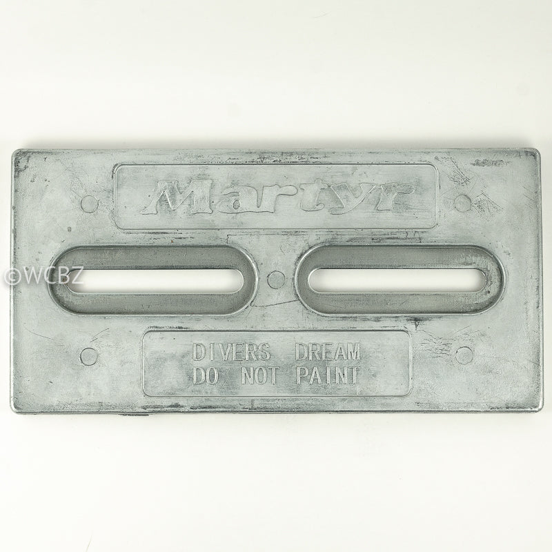 "Divers Dream 5/8"" Bracket Hull Plate - Zinc -"