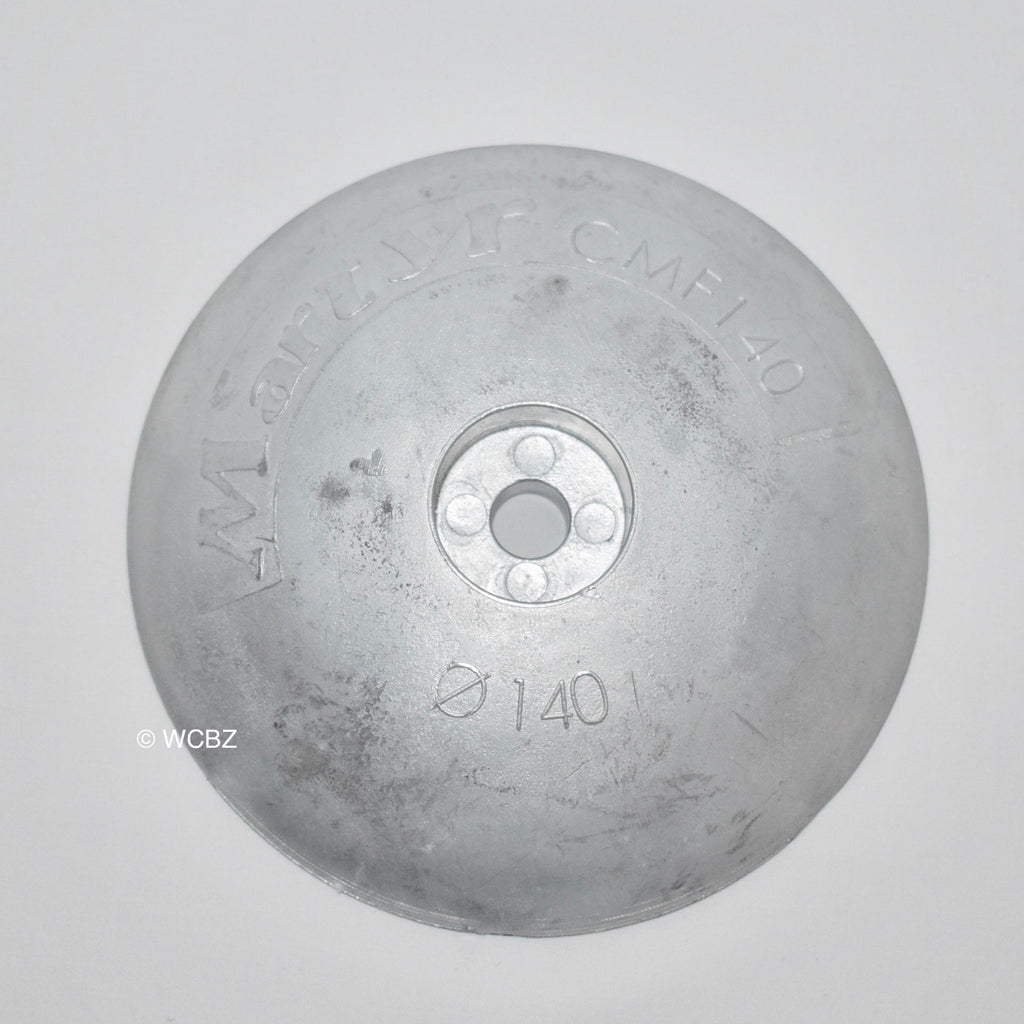 140mm Rudder Button - Zinc -