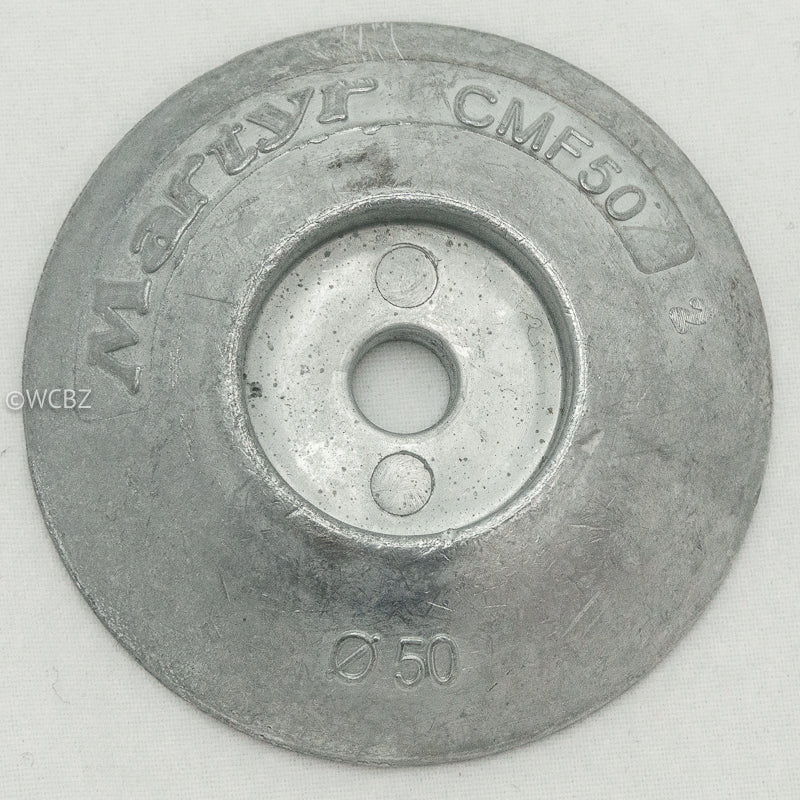 50mm Rudder Button - Zinc -