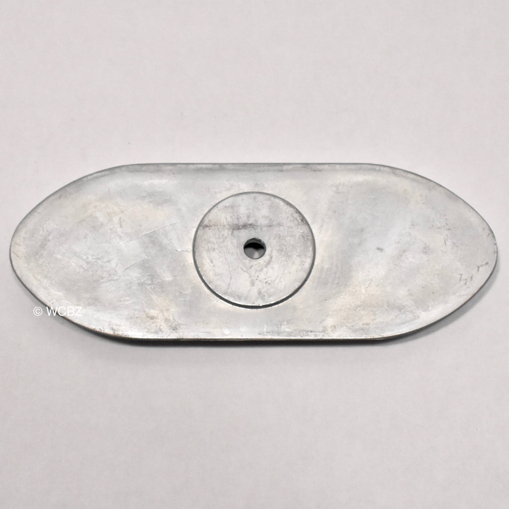 Football 1-Hole Hull Plate - Zinc -