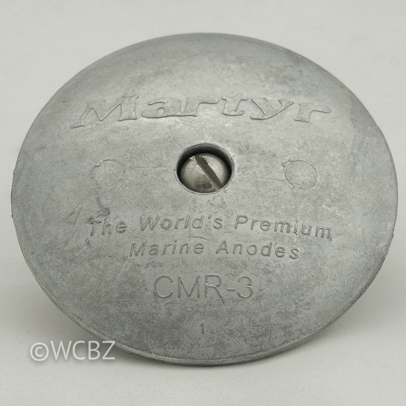 CMR-3 Rudder Button - Zinc -