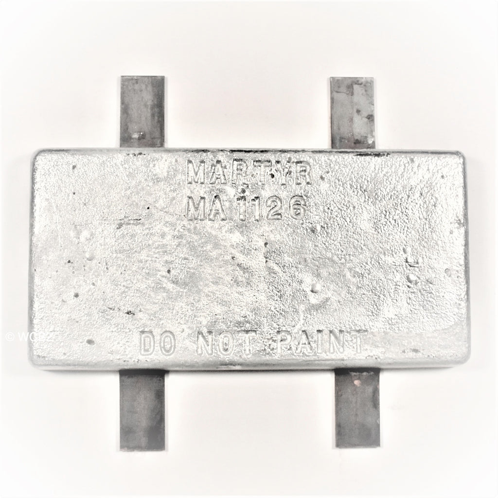 ZHC-23 Weld-On Commercial Hull Plate - Zinc -
