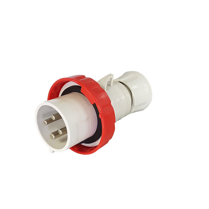 Electrical Plug 4 Pin 32 Amp 400V Gewiss Style / CEE
