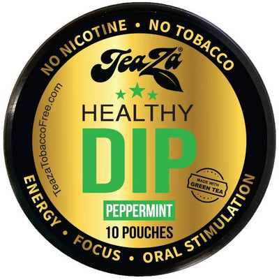 TeaZa Peppermint Herbal Snuff - Nicotine-Free and Tobacco-Free - Herbal Snuff - Great Tasting & Refreshing Chewing Tobacco Alternative