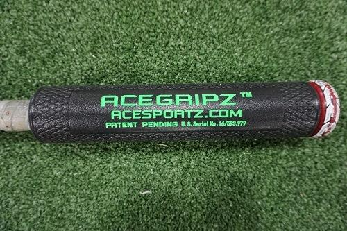 INCREASE EXIT VELOCITY & Bat Speed YOUTH MODEL- ACEGRIPZ Small Straight Handle- 40mm - Maximum Velocity Sports