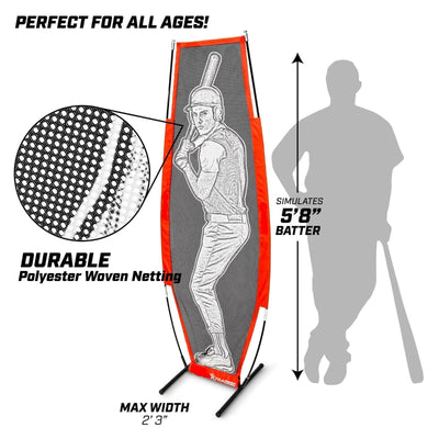 Maximum Velocity Sports | Designated Hitter | Baseball & Softball Xtraman Dummy Batter | Pitching Training Mannequin | Practice Pitching Aid for Improved Accuracy and Safety - Maximum Velocity Sports