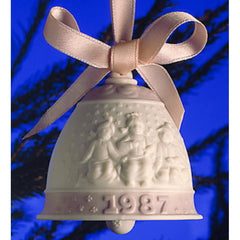 Lladro 1987 Christmas Bell Ornament - The First Annual Bell Ornament