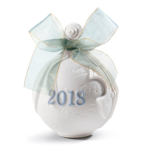 Lladro 2018 Ball Christmas Ornament