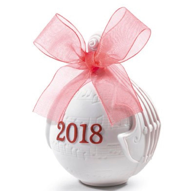 Lladro 2018 Ball Christmas Ornament (Re-Deco Red)