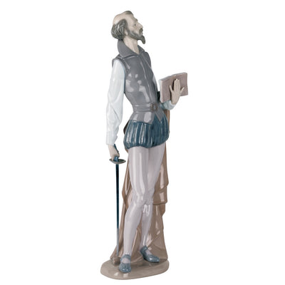 Nao by Lladro Don Quixote Reading Figurine
