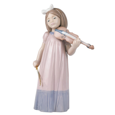 Nao by Lladro Girl With Violin Figurine