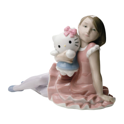 Nao by Lladro Playing with Hello Kitty Figurine