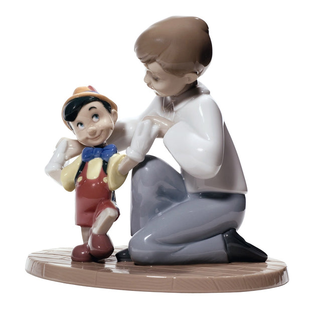 Nao by Lladro Pinocchio's First Steps Figurine