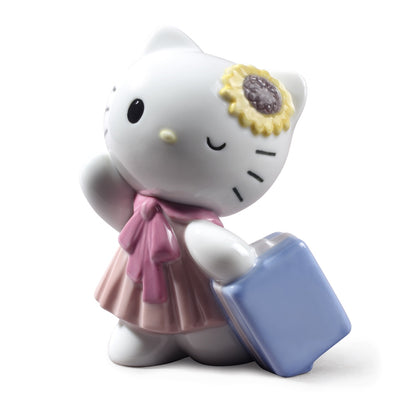 Nao by Lladro Traveling with Hello Kitty Figurine