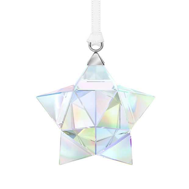 Swarovski Crystal Aurora Borealis Star Ornament, Small
