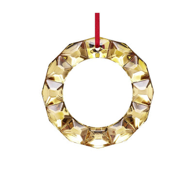 Baccarat Christmas Wreath Ornament - Gold