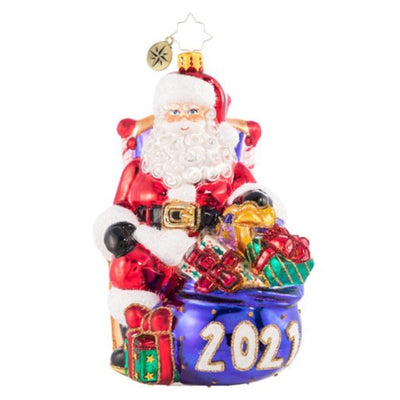 Christopher Radko 2021 Kick Back & Relax Christmas Ornament