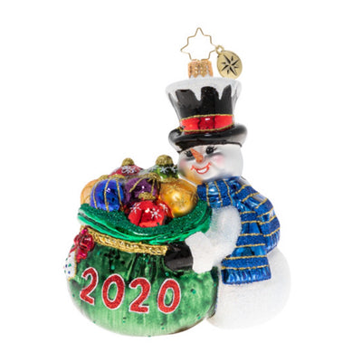 Christopher Radko One Proud Collector 2020 Christmas Ornament