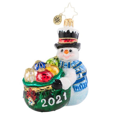 Christopher Radko One Proud Collector 2021 Gem Christmas Ornament