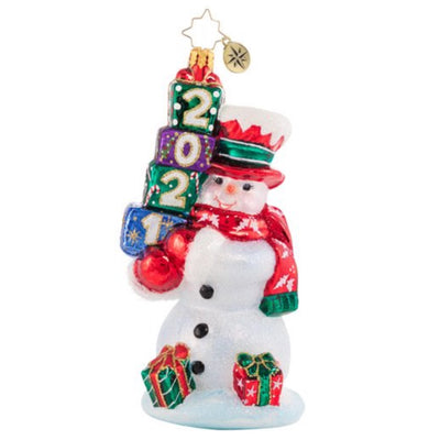 Christopher Radko Teetering Tower of Treasures 2021 Christmas Ornament