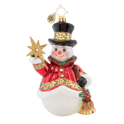 Christopher Radko Star Struck Snowman Christmas Ornament