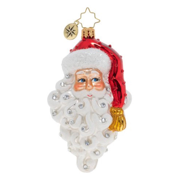 Christopher Radko Grinning Santa Christmas Ornament