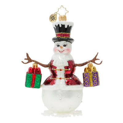 Christopher Radko Frosty Bearing Gifts Christmas Ornament