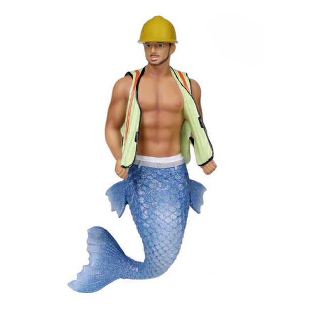 December Diamonds Merman Ornament - Hard Hat