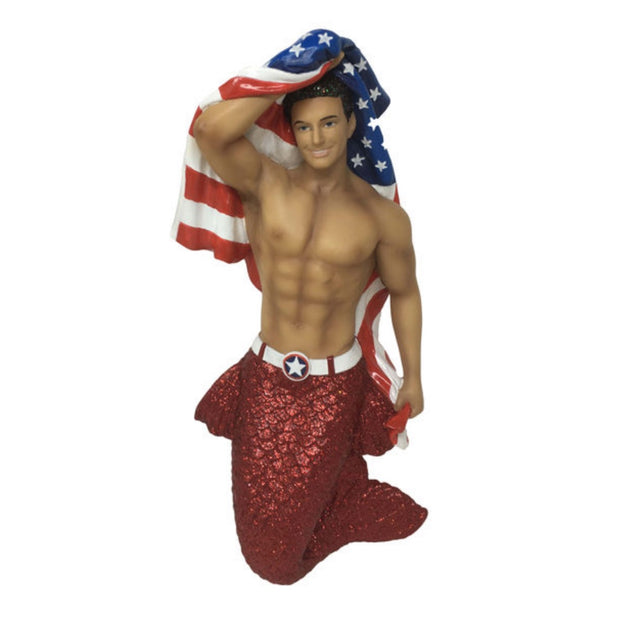 December Diamonds Merman Ornament - Patriot