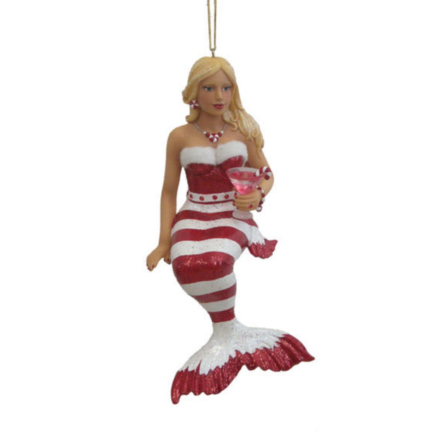 December Diamonds Mermaid Ornament - Peppermint
