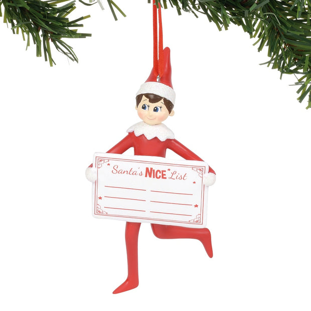 Elf On The Shelf Nice List Personalizable Ornament