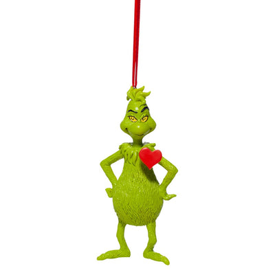 Grinch With Heart Ornament