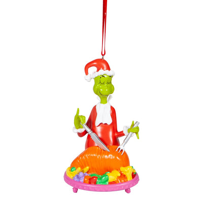 Grinch Cutting Roast Beast Ornament