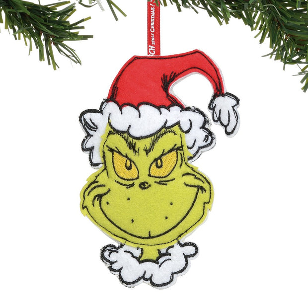 Grinch Double Sided Felt Ornament