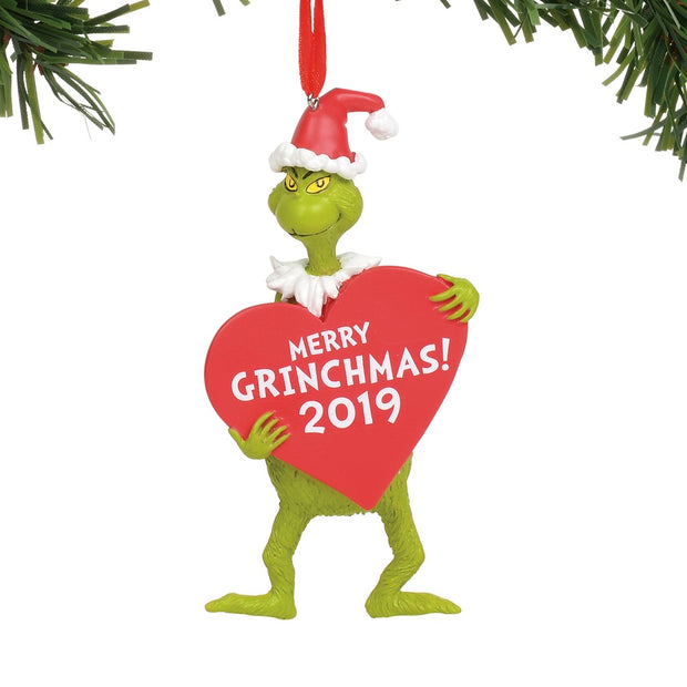 Grinch With Heart 2019 Ornament