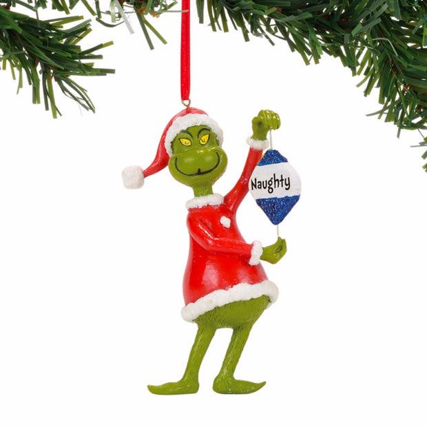 Grinch Naughty Or Nice Ornament