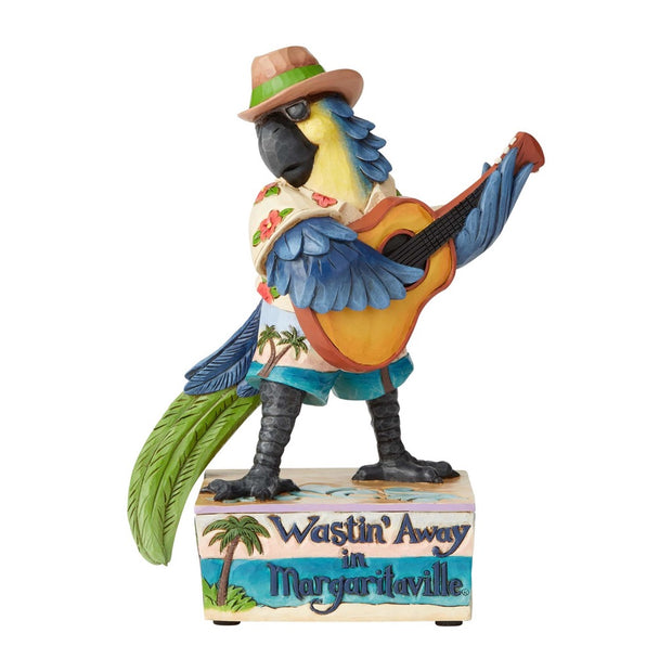 Jim Shore Margaritaville Parrot Playing Guitar Musical Figurine