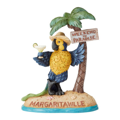 Jim Shore Margaritaville Parrot With Palm Tree Figurine