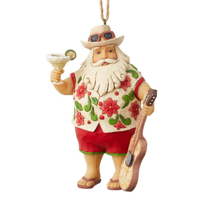 Jim Shore Margaritaville Santa In Shorts Ornament