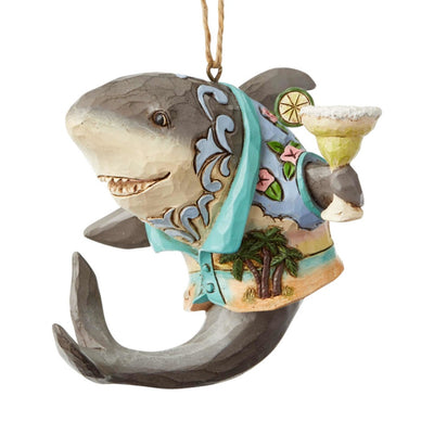 Jim Shore Margaritaville Shark With Margarita Ornament