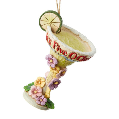 Jim Shore Margaritaville Margarita Glass Ornament