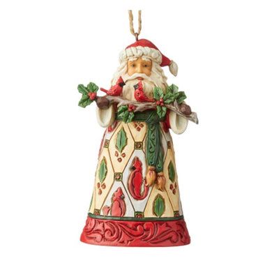 Jim Shore Santa With Cardinals Ornament