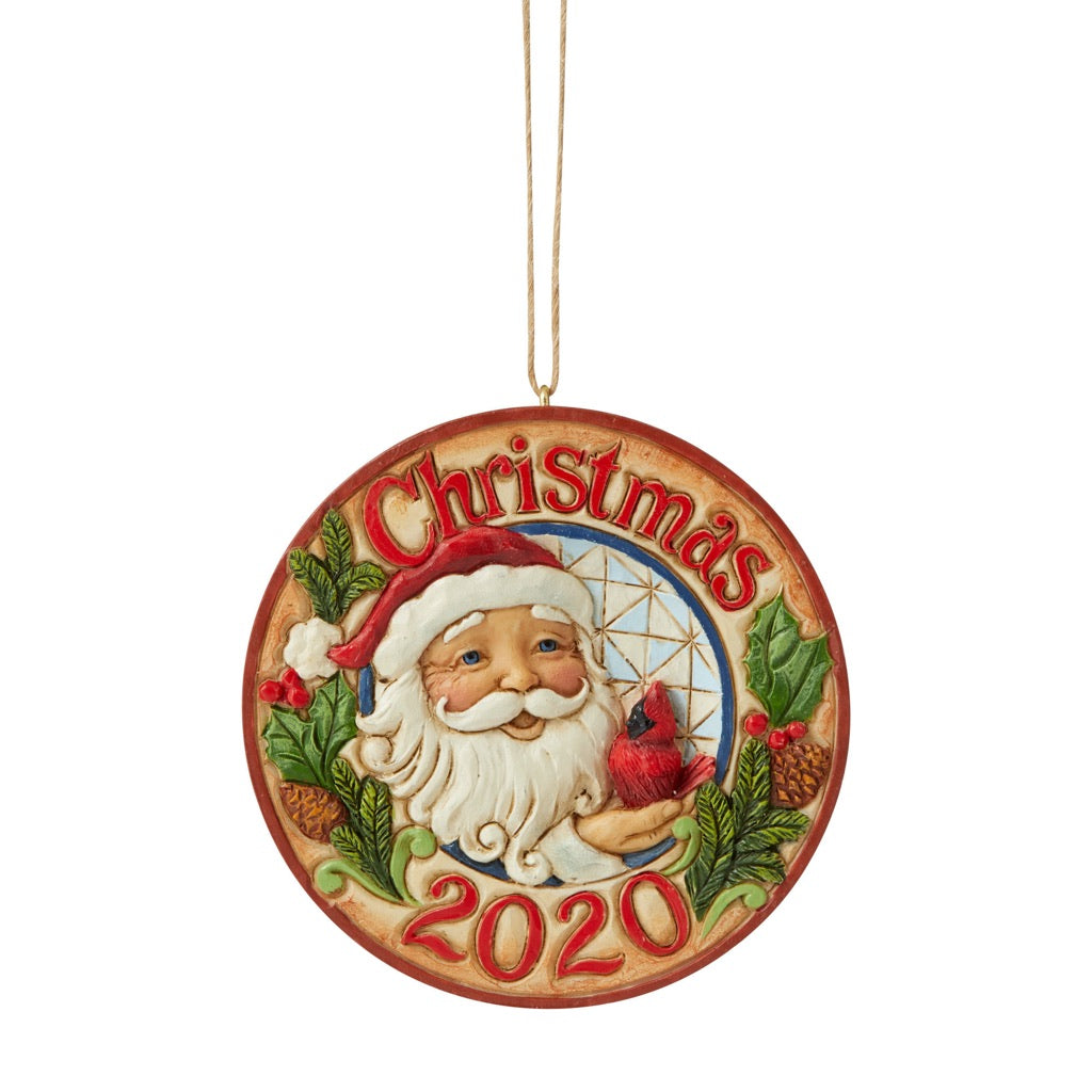 Jim Shore 2020 Christmas Ornament Jim Shore 2020 Dated Santa W/Cardinal Ornament | Annual Ornaments