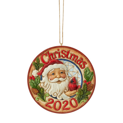 Jim Shore 2020 Dated Santa W/Cardinal Ornament