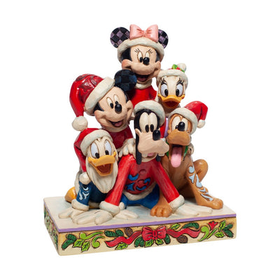 Jim Shore Disney Traditions Christmas Mickey & Friends Figurine