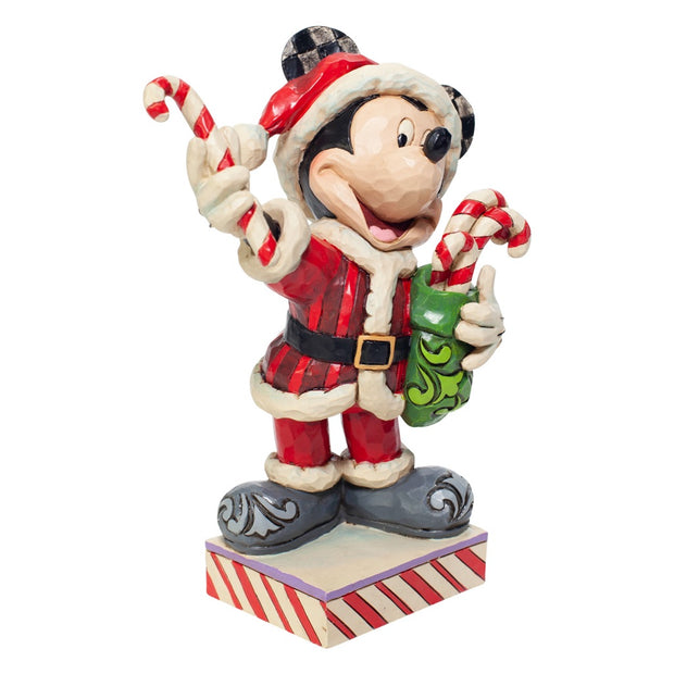 Jim Shore Disney Traditions Santa Mickey With Candy Canes Figurine